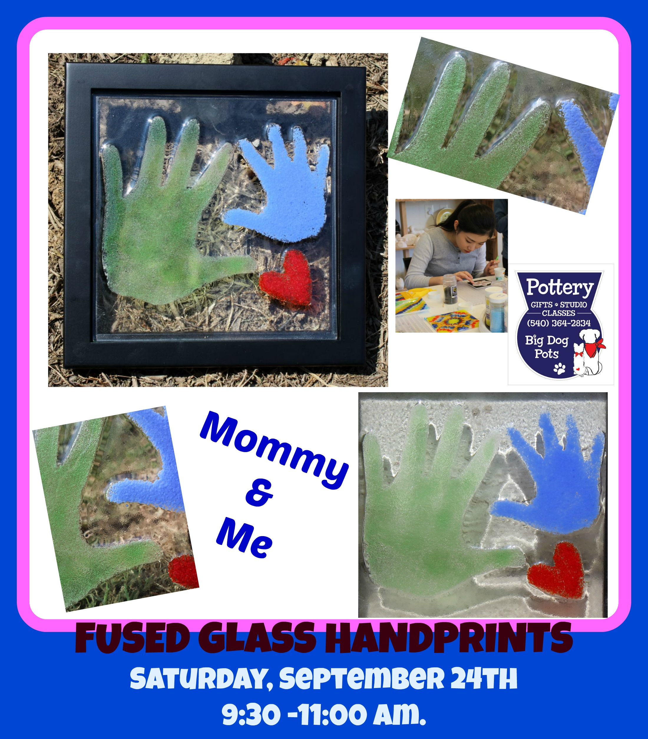 Fused Glass Family Fun Workshop 540-364-2834 by  in