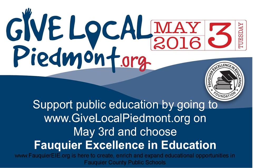 Give Local - Piedmont.org May3rd by Fauquier News Flash in Warrenton