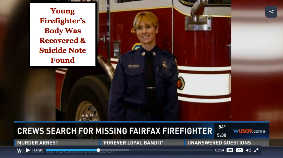 Body of missing firefighter Nicole Mittendorff found, suicide note recovered