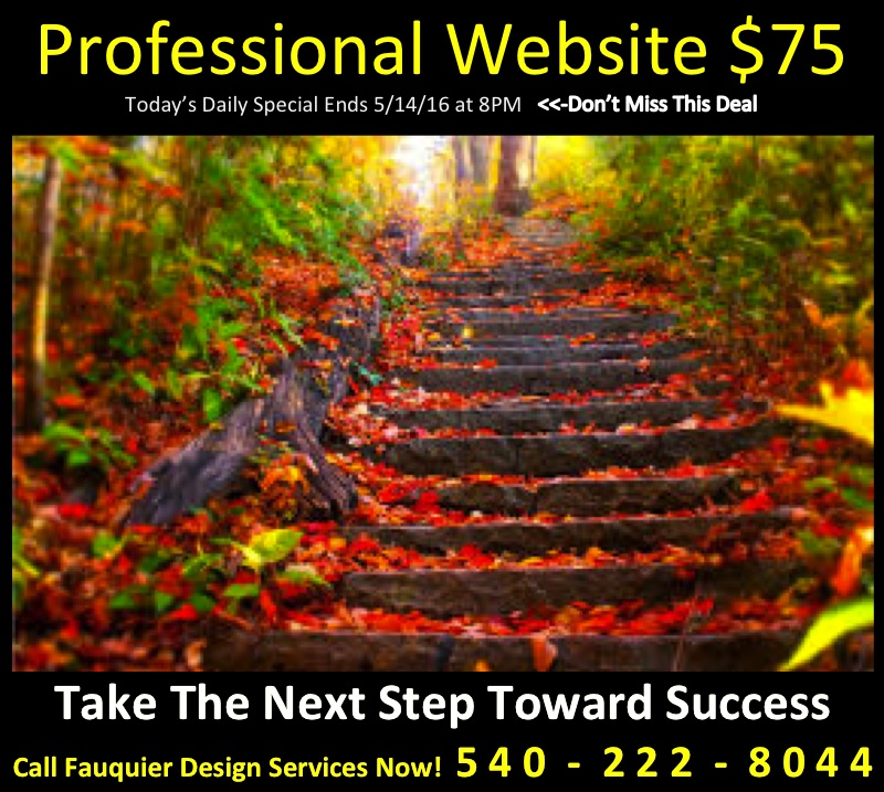 Act Fast! Fauquier 411's Daily Deal - Professional Website for $75 by Fauquier News Flash in Warrenton